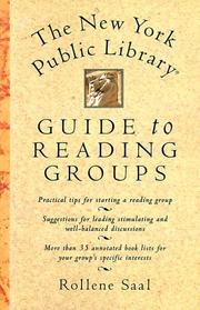 Cover of: The New York Public Library guide to reading groups