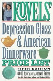 Cover of: Depression glass & American dinnerware price list
