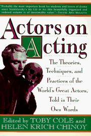 Actors on acting by Toby Cole