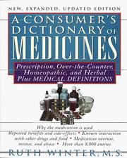 Cover of: A consumer's dictionary of medicines | Ruth Winter