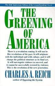 Cover of: The greening of America