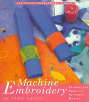 Cover of: Machine embroidery