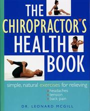 Cover of: The chiropractor's health book