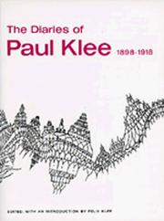 Cover of: The diaries of Paul Klee, 1898-1918