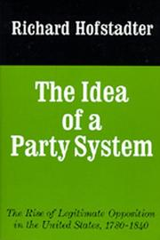 Cover of: Idea of a Party System