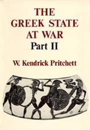Cover of: The Greek State at War, Part II (Greek State at War) (Greek State at War)