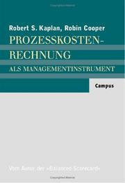 Cover of: Prozesskostenrechnung als Managementinstrument