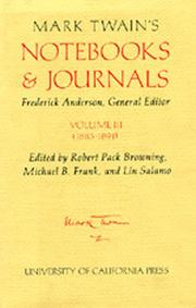 Mark Twains Notebooks & Journals, Volume III
