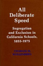 Cover of: All deliberate speed