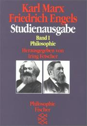 Cover of: Studienausgabe I. Philosophie. ( Philosophie)