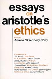 Cover of: Essays on Aristotle