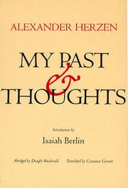 Cover of: My Past and Thoughts | Aleksandr Herzen