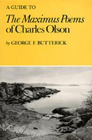 A Guide to <i>The Maximus Poems</i> of Charles Olson