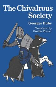 Cover of: The chivalrous society