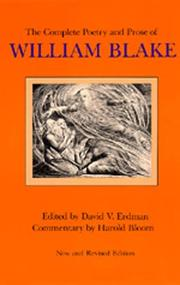 Cover of: The complete poetry and prose of William Blake