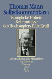 Cover of: Selbstkommentare | Thomas Mann