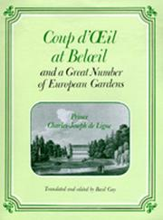 Cover of: Coup d'œil at Belœil and a great number of European gardens