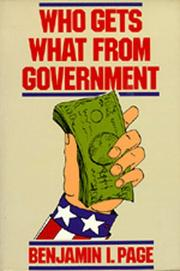 Cover of: Who gets what from government
