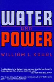 Cover of: Water and Power | William L. Kahrl