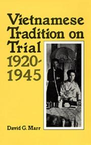 Cover of: Vietnamese Tradition on Trial, 1920-1945