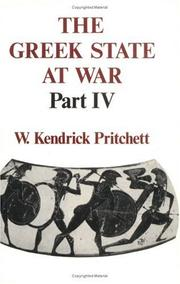 Cover of: The Greek State at War, Part IV