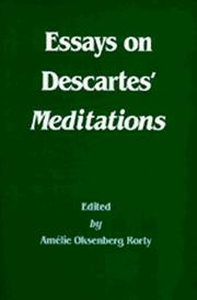 Cover of: Essays on Descartes