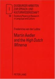 Cover of: Martin Aedler and the High Dutch Minerva | Der Lubbe, Fredericka Van