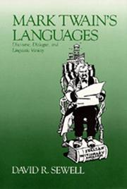 Cover of: Mark Twain's languages