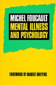 Cover of: Maladie mentale et psychologie