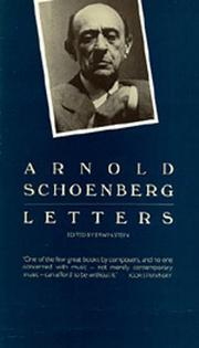 Cover of: Letters | Arnold Schoenberg