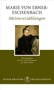 Cover of: Meistererzahlungen