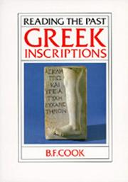 Cover of: Greek inscriptions