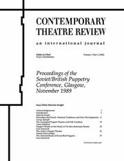 Cover of: Proceedings of the Soviet/British Puppetry Conference