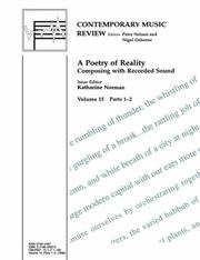 Cover of: A Poetry of Reality