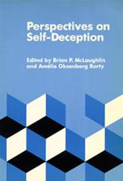 Cover of: Perspectives on self-deception |