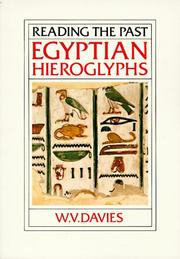 Cover of: Egyptian hieroglyphs