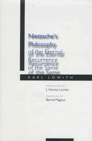 Cover of: Nietzsche's philosophy of the eternal recurrence of the same