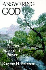 Cover of: Answering God | Peterson, Eugene H.