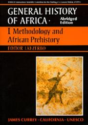 Cover of: UNESCO General History of Africa, Vol. I, Abridged Edition | Joseph Ki-Zerbo