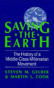 Cover of: Saving the earth | Steven M. Gelber