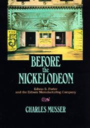 Cover of: Before the nickelodeon