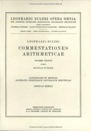 Cover of: Commentationes arithmeticae 3rd part