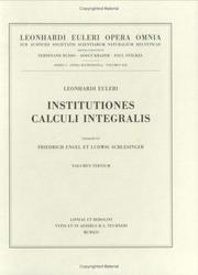 Cover of: Institutiones calculi integralis 3rd part