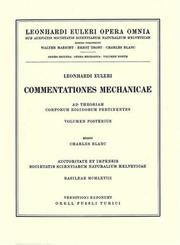 Cover of: Mechanica corporum solidorum 2nd part