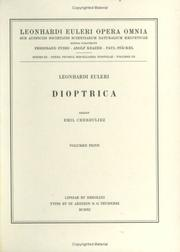 Cover of: Dioptrica 1st part