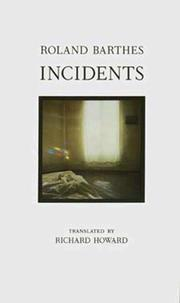 Cover of: Incidents