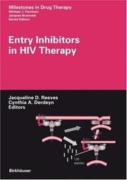 Cover of: Entry Inhibitors in HIV Therapy (Milestones in Drug Therapy) (Milestones in Drug Therapy) |