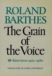 Cover of: Grain de la voix: interviews 1962-1980