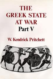 Cover of: The Greek State at War, Part V
