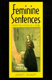 Cover of: Feminine sentences | Janet Wolff